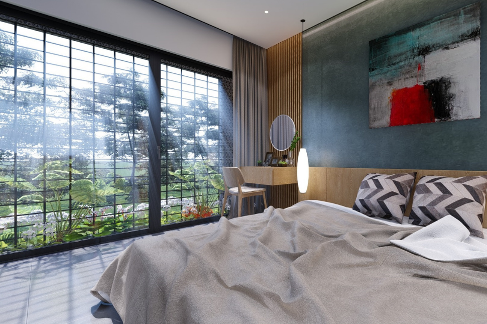 Mẫu thiết kế phòng ngủ nhà cấp 4