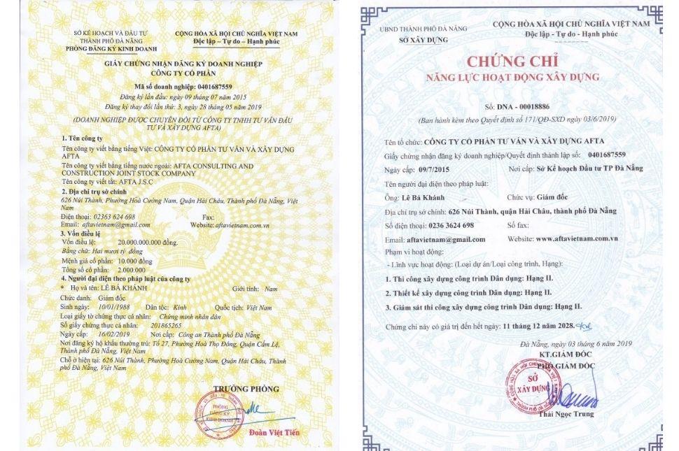 Hồ sơ năng lực thi công Đà Nẵng