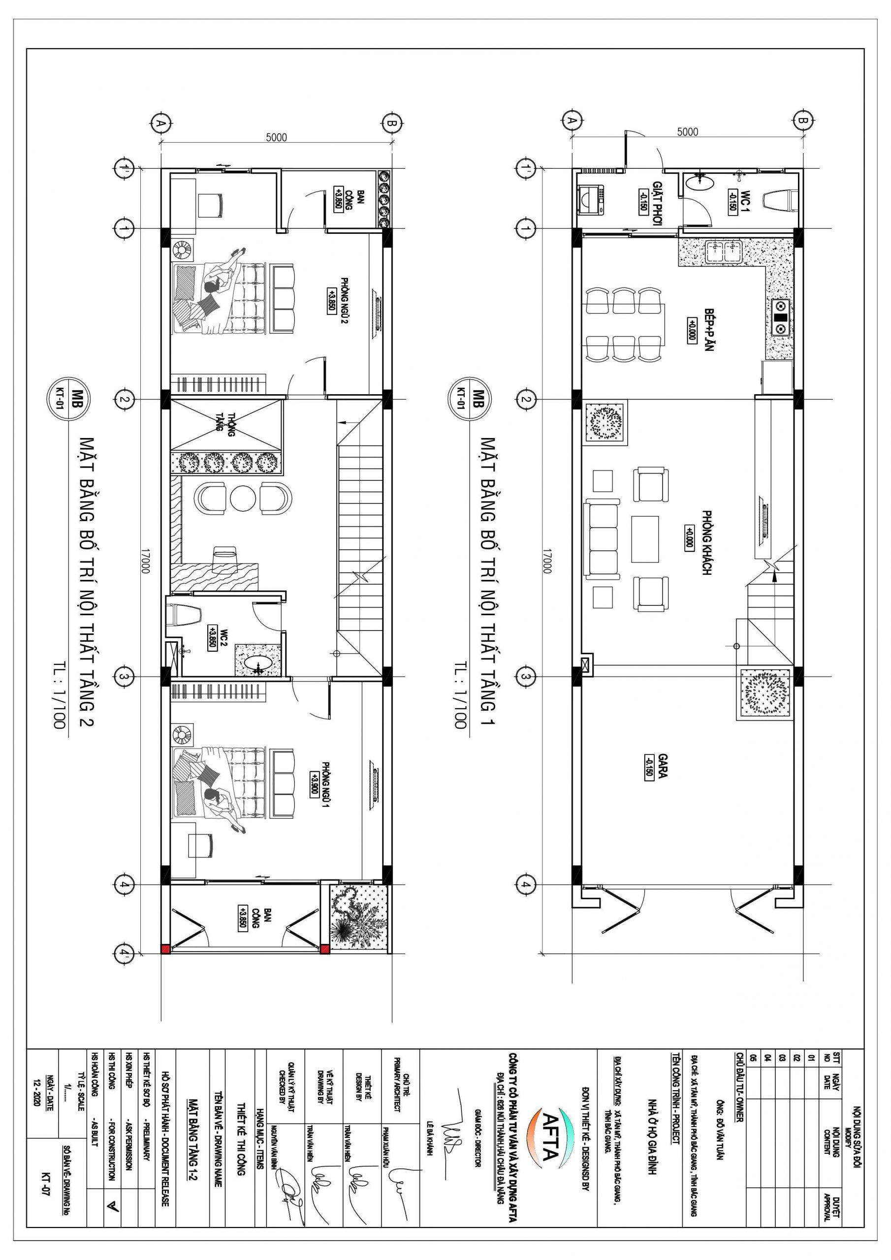 Thiết Kế Nhà Ống 2 Tầng 3 Phòng Ngủ Bắc Giang 8