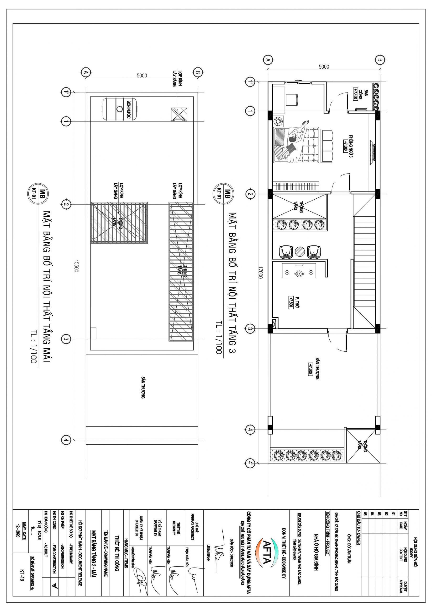 Thiết Kế Nhà Ống 2 Tầng 3 Phòng Ngủ Bắc Giang 9