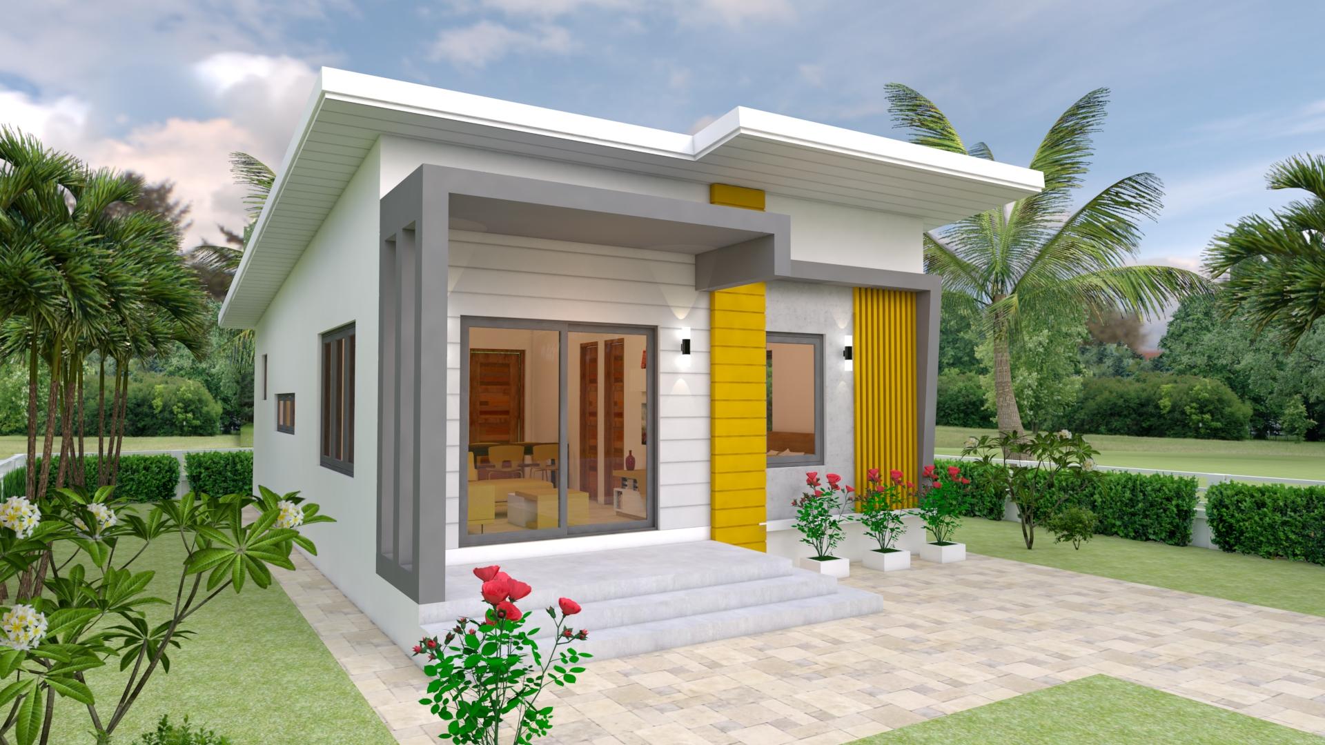 thiết kế nhà 1 tầng 7x12m