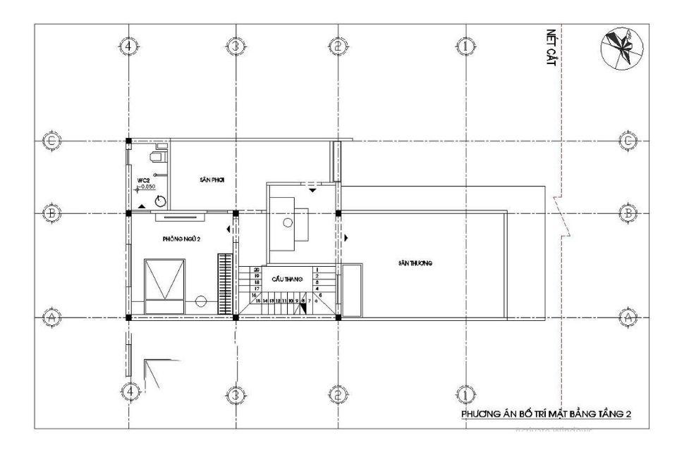 mẫu thiết kế nhà rộng 7m