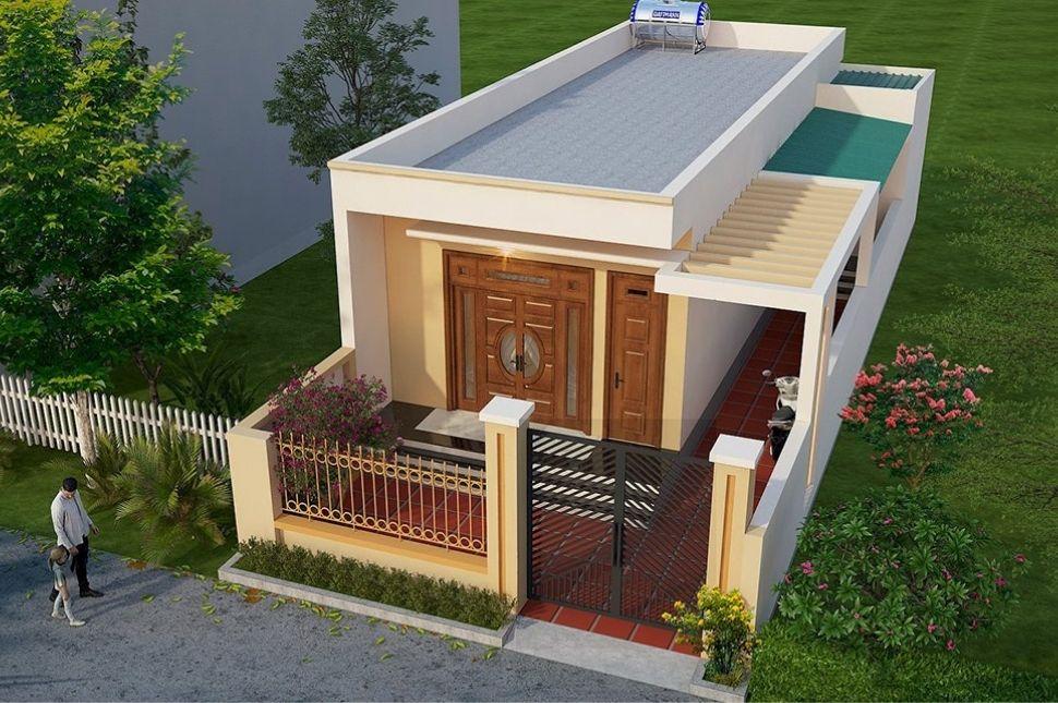 thiết kế nhà cấp 4 mặt tiền 7m