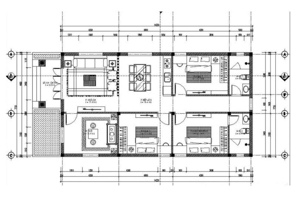 Nhà cấp 4 ngang 7 m