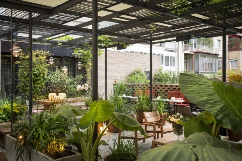 mở quán cafe sân vườn nhỏ