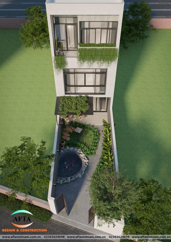 Sân vườn phía sau nhà cô Lệ Đà Nẵng