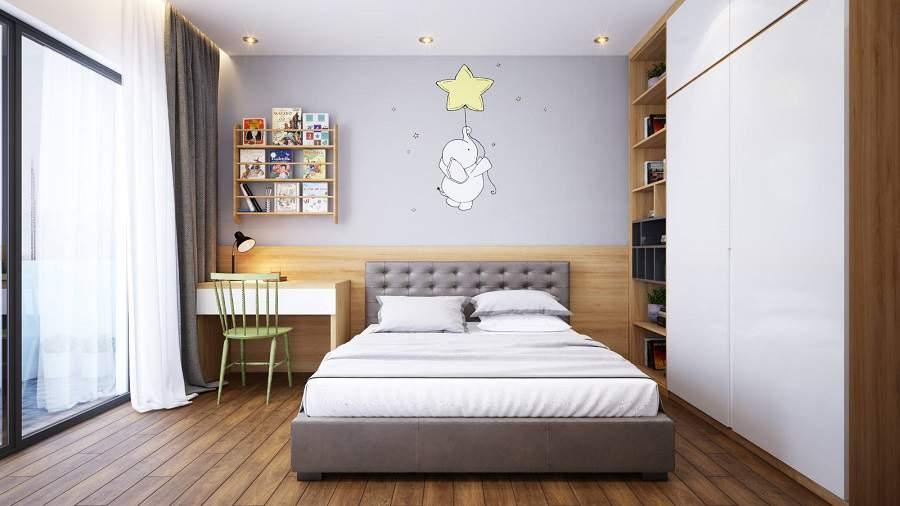 Bố trí nội thất phòng ngủ 16m2