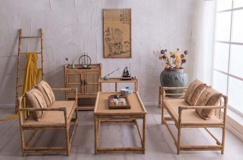 Mẫu bàn ghế bằng tre đang tạo nên một sức hút trong mọi không gian nội thất