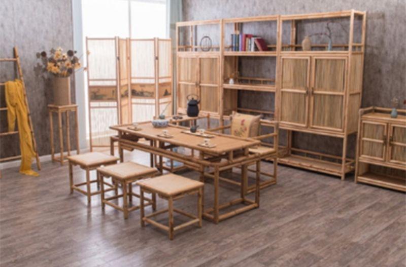 Mẫu bàn ghế ăn cơm được thiết kế thấp, dễ sử dụng
