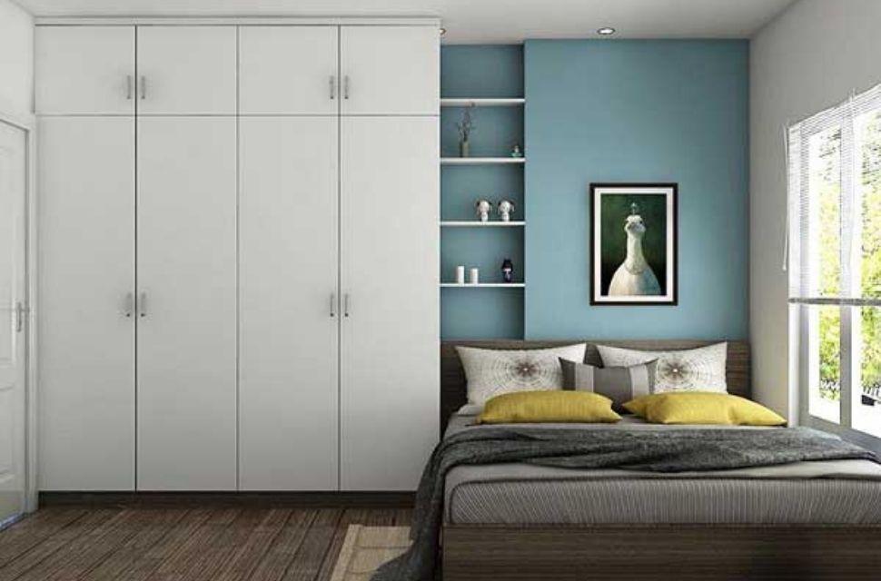 Mẫu 1 - Phòng ngủ có diện tích 11m2 - nội thất phòng ngủ đơn giản hiện đại