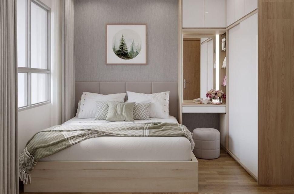Phòng ngủ có diện tích 19m2.