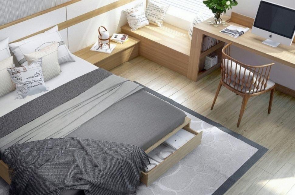 Phòng ngủ có diện tích 7m2 - nội thất phòng ngủ đơn giản hiện đại