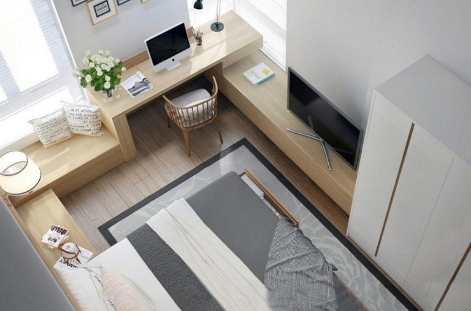 Mẫu 2 - Phòng ngủ có diện tích 8m2, nội thất phòng ngủ đơn giản hiện đại