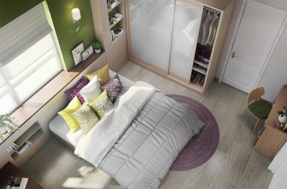 Phòng ngủ có diện tích 9m2 - nội thất phòng ngủ đơn giản hiện đại