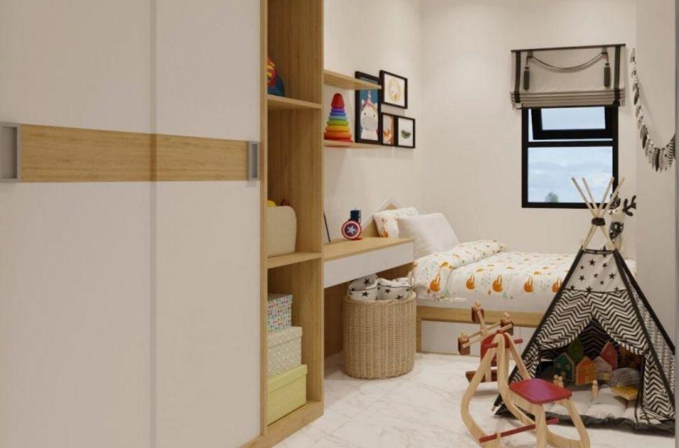Mẫu 2 - Phòng ngủ cho bé gái, nội thất phòng ngủ đơn giản hiện đại