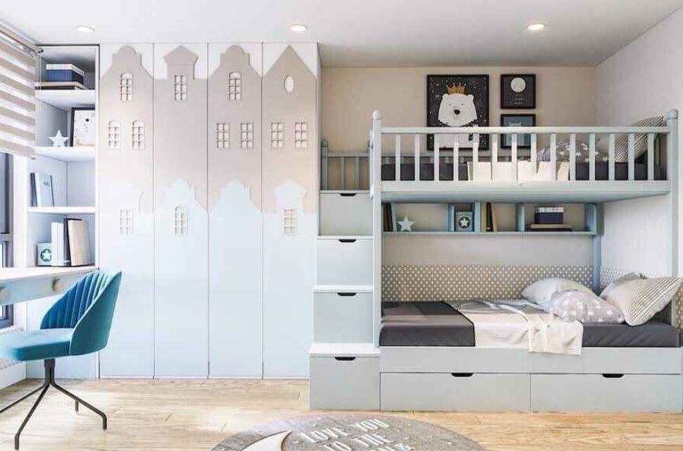 Mẫu 3 - Phòng ngủ cho bé gái, nội thất phòng ngủ đơn giản hiện đại