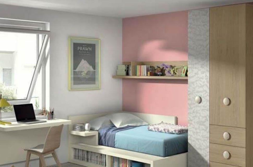 Mẫu 4 - Phòng ngủ cho bé gái, nội thất phòng ngủ đơn giản hiện đại