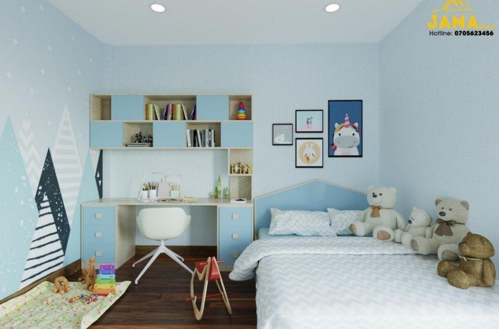 Mẫu 5 - Phòng ngủ cho bé gái, nội thất phòng ngủ đơn giản hiện đại